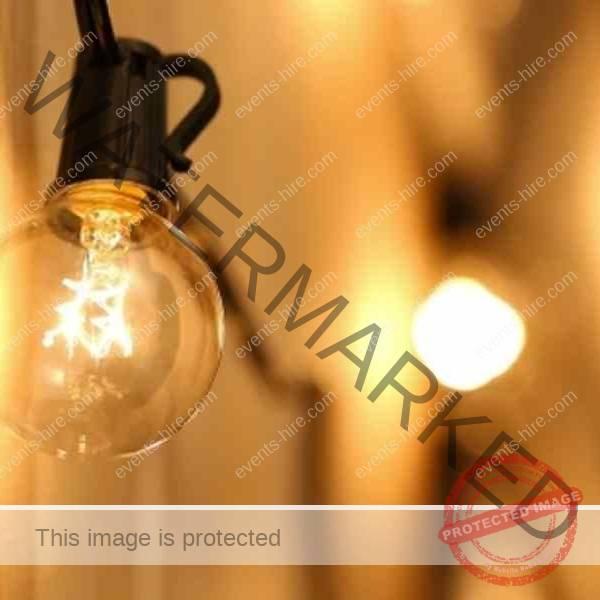 Festoon lighting for hire, string lighting