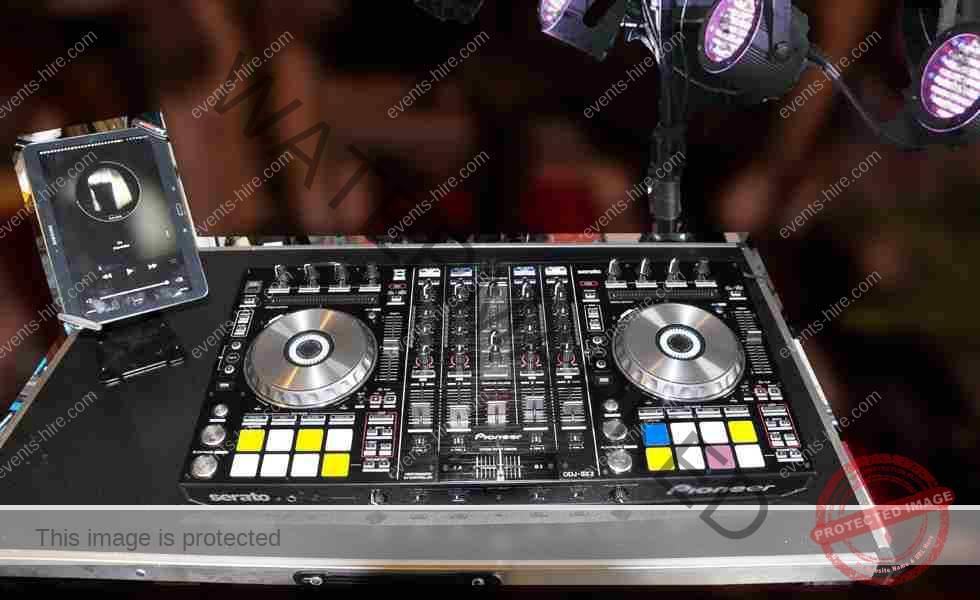 DJ Table Setup, music party hire